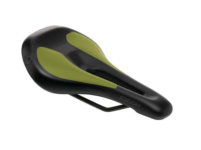 Ergon SM E-Mountain Women saddle with special Orthocell inlays.