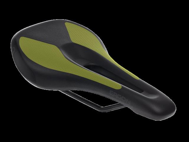 Ergon SM Sport Gel Women saddle with anatomical gel pads.