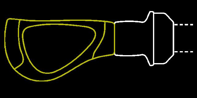 Ein kurzer, linker Griff.