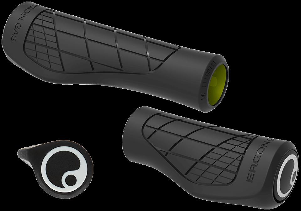 Ergon GX1 Ergonomic Lightweight Performance MTB Bike Grips Black /& Grey