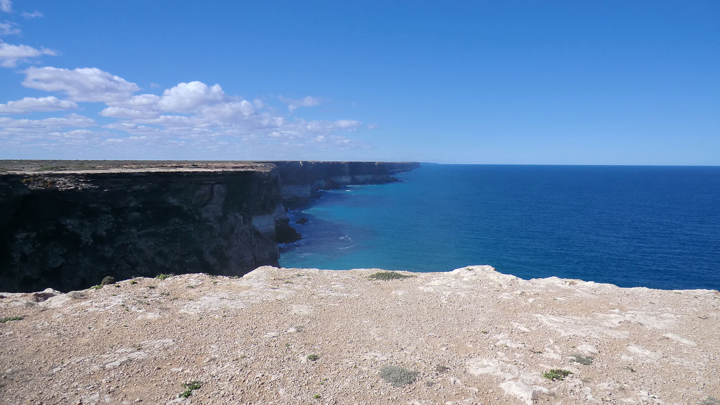 Australia's cliffs meet the ocean